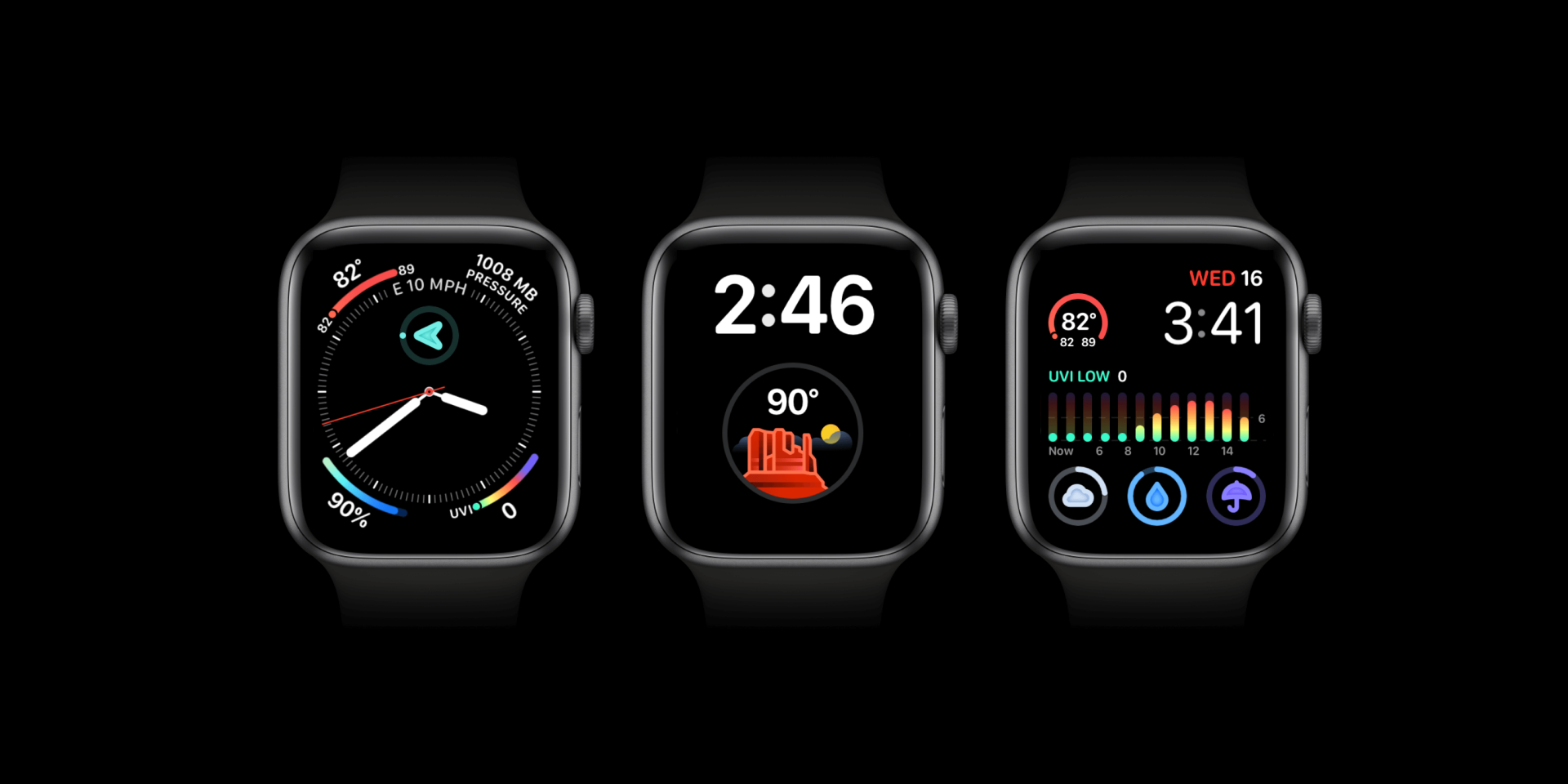 Multiple complications and watch faces