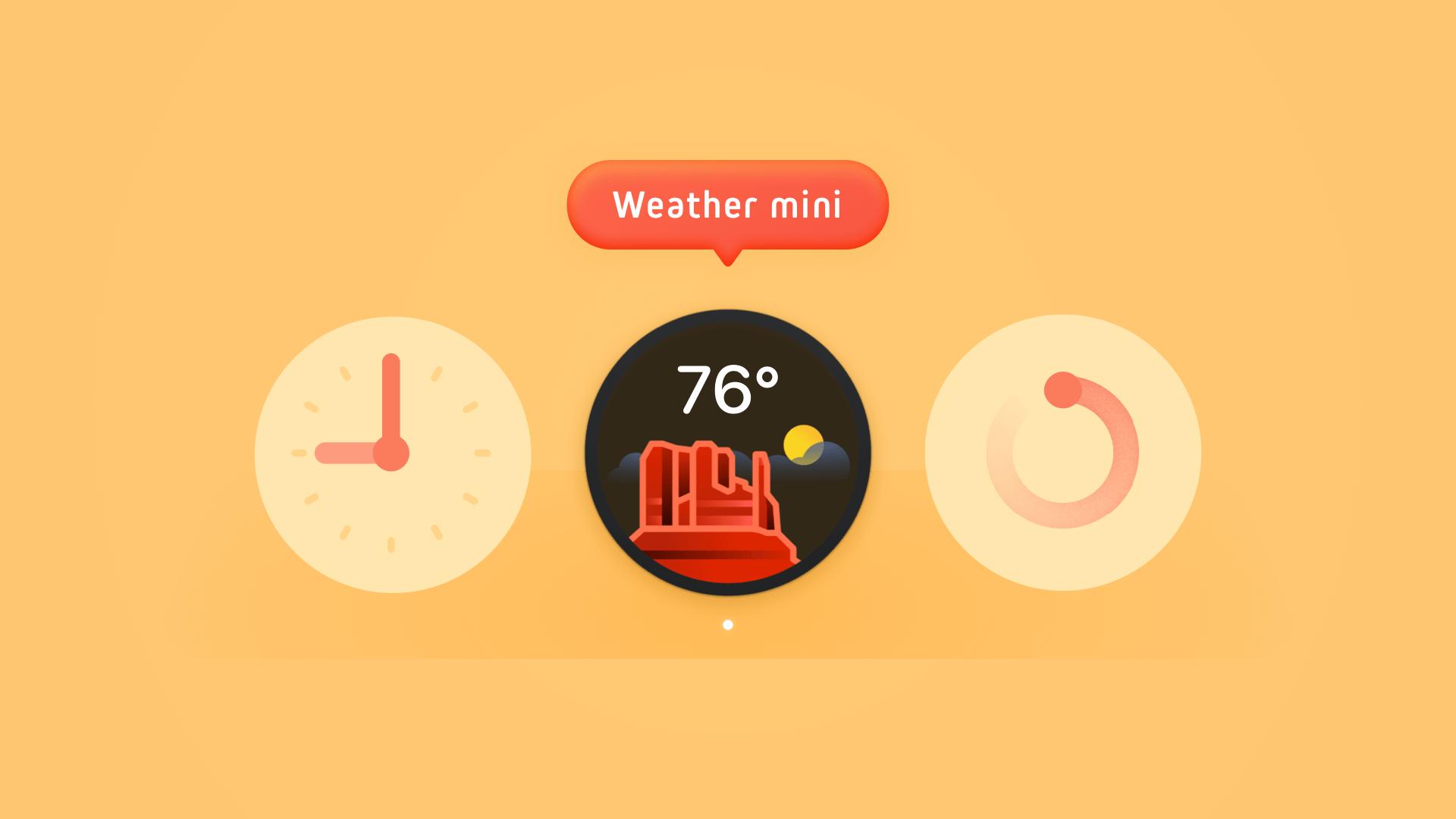 Weather mini for Mac